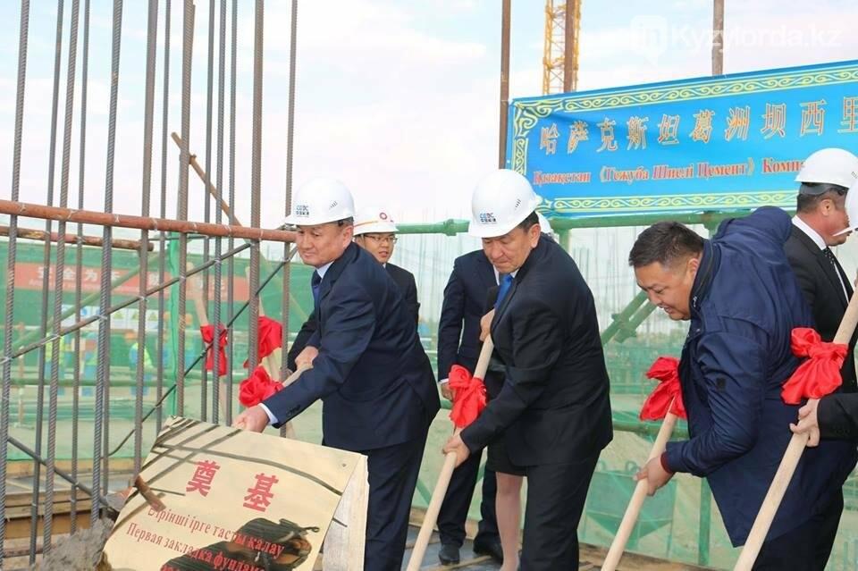В Шиелийском районе началось строительство завода по выпуску  тампонажного цемента , фото-1