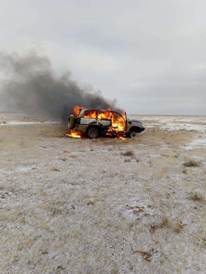 Браконьеры из Кызылординской области сожгли машину, чтобы скрыть улики (фото), фото-2